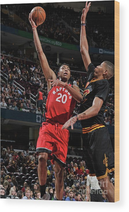 Nba Pro Basketball Wood Print featuring the photograph Bruno Caboclo by David Liam Kyle