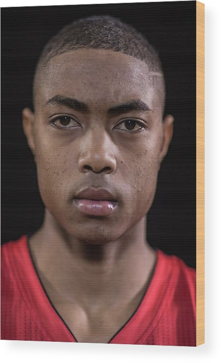 Nba Pro Basketball Wood Print featuring the photograph Bruno Caboclo by Nick Laham