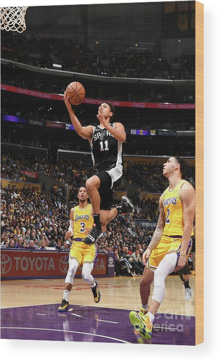 Nba Pro Basketball Wood Print featuring the photograph Bryn Forbes by Andrew D. Bernstein