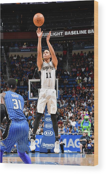Nba Pro Basketball Wood Print featuring the photograph Bryn Forbes by Fernando Medina