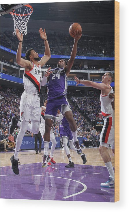 Nba Pro Basketball Wood Print featuring the photograph Buddy Hield and Skal Labissiere by Rocky Widner