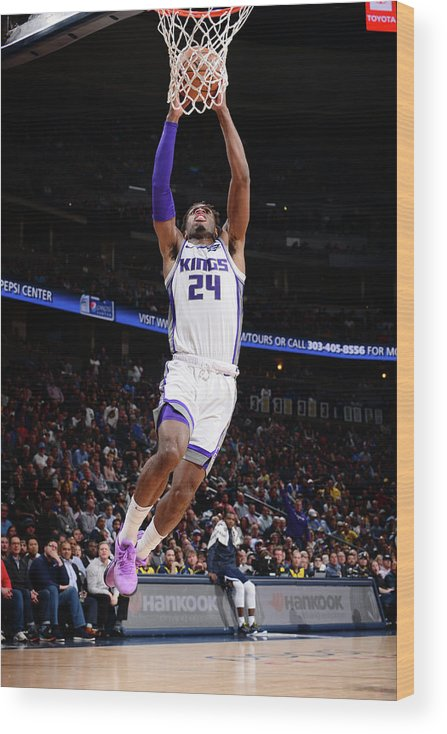 Nba Pro Basketball Wood Print featuring the photograph Buddy Hield by Bart Young