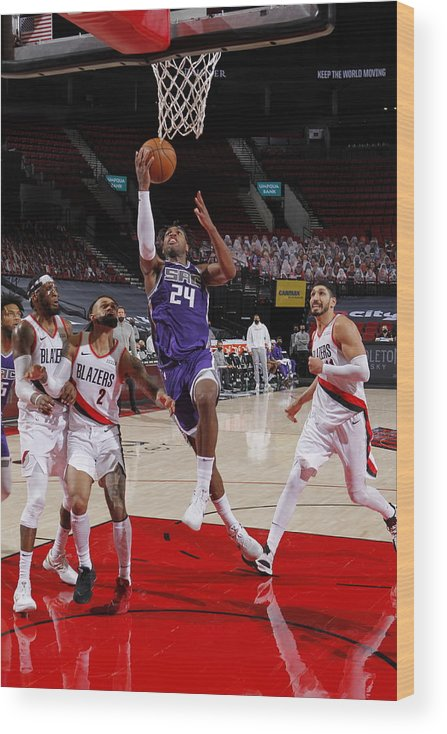 Nba Pro Basketball Wood Print featuring the photograph Buddy Hield by Cameron Browne