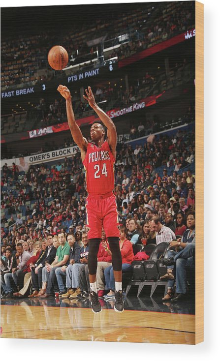 Smoothie King Center Wood Print featuring the photograph Buddy Hield by Layne Murdoch