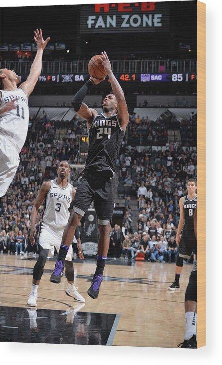Nba Pro Basketball Wood Print featuring the photograph Buddy Hield by Mark Sobhani