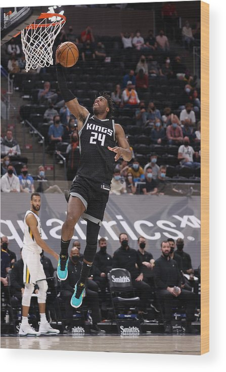 Nba Pro Basketball Wood Print featuring the photograph Buddy Hield by Melissa Majchrzak