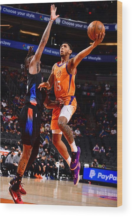 Nba Pro Basketball Wood Print featuring the photograph Cameron Payne by Barry Gossage