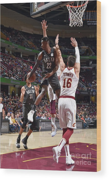 Nba Pro Basketball Wood Print featuring the photograph Caris Levert by David Liam Kyle