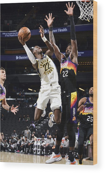 Nba Pro Basketball Wood Print featuring the photograph Caris Levert by Michael Gonzales