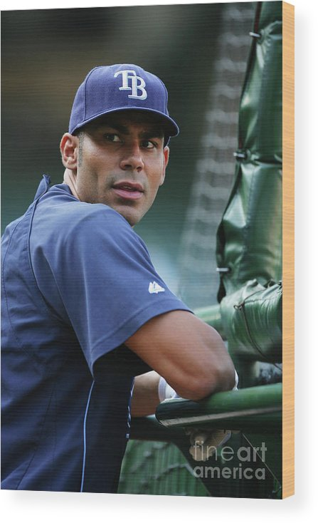 People Wood Print featuring the photograph Carlos Pena by Icon Sports Wire