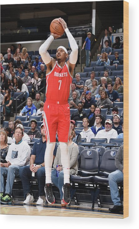 Nba Pro Basketball Wood Print featuring the photograph Carmelo Anthony by Bill Baptist
