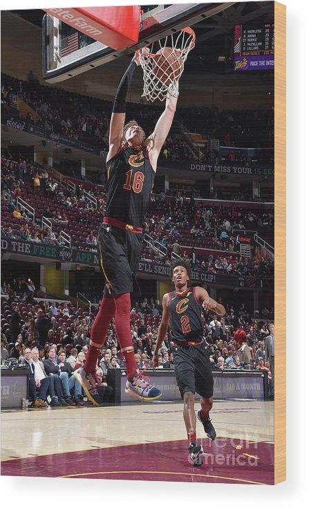 Nba Pro Basketball Wood Print featuring the photograph Cedi Osman by David Liam Kyle