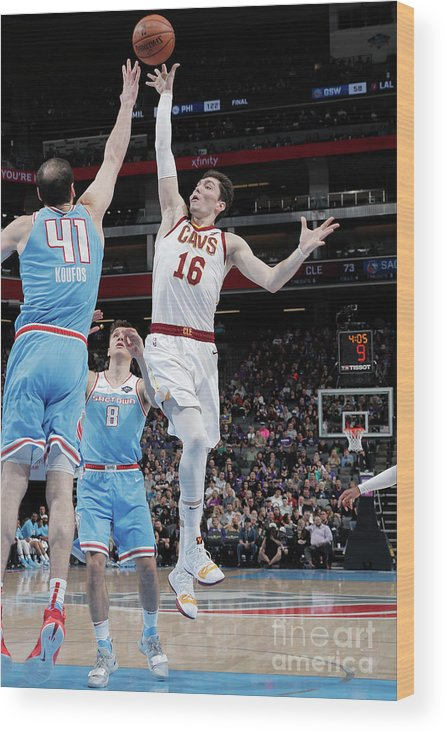 Nba Pro Basketball Wood Print featuring the photograph Cedi Osman by Rocky Widner