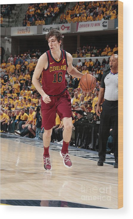 Playoffs Wood Print featuring the photograph Cedi Osman by Ron Hoskins