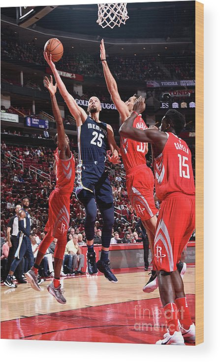 Nba Pro Basketball Wood Print featuring the photograph Chandler Parsons by Bill Baptist