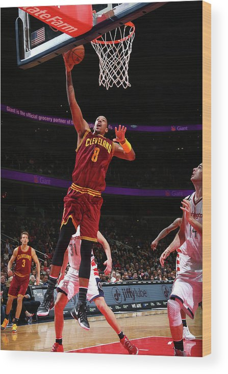 Nba Pro Basketball Wood Print featuring the photograph Channing Frye by Ned Dishman