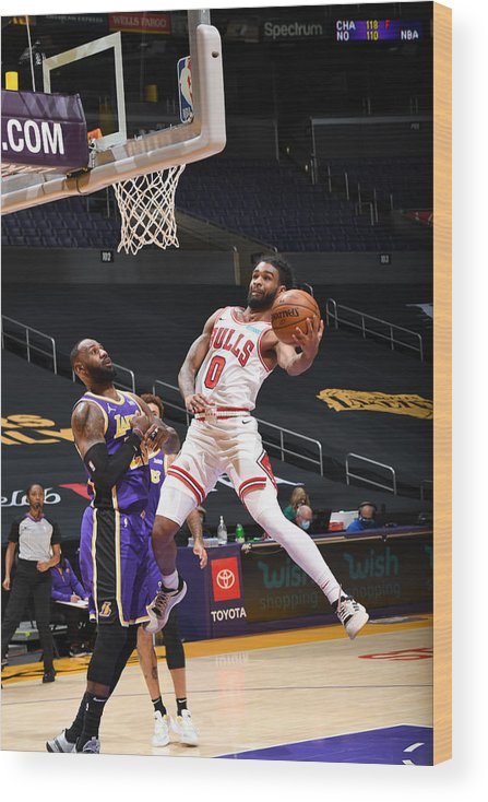 Coby White Wood Print featuring the photograph Chicago Bulls v LA Lakers by Adam Pantozzi