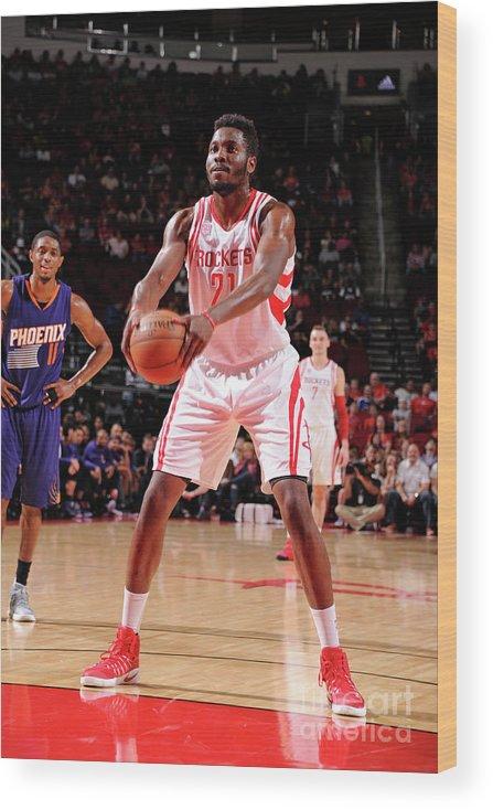 Nba Pro Basketball Wood Print featuring the photograph Chinanu Onuaku by Bill Baptist