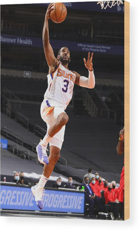 Nba Pro Basketball Wood Print featuring the photograph Chris Paul by Barry Gossage