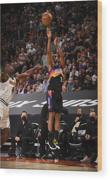 Playoffs Wood Print featuring the photograph Chris Paul by Garrett Ellwood