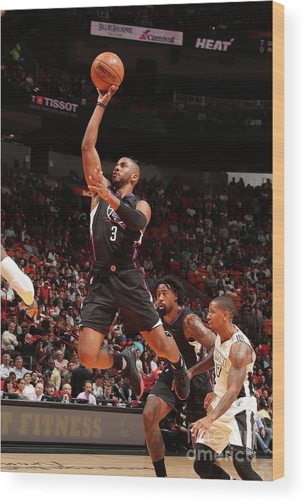 Nba Pro Basketball Wood Print featuring the photograph Chris Paul by Issac Baldizon