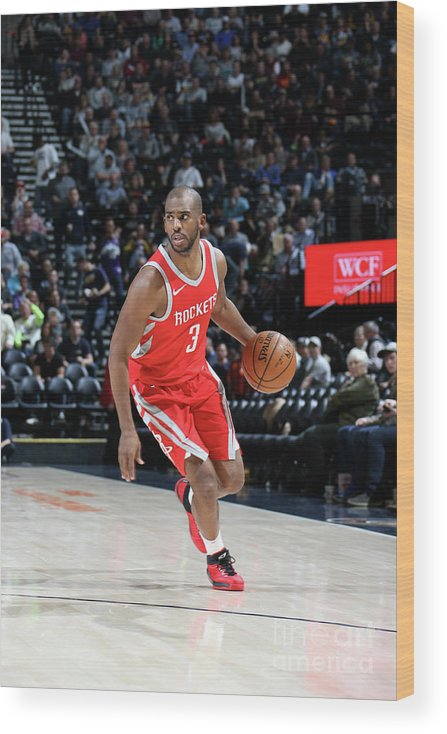 Nba Pro Basketball Wood Print featuring the photograph Chris Paul by Melissa Majchrzak