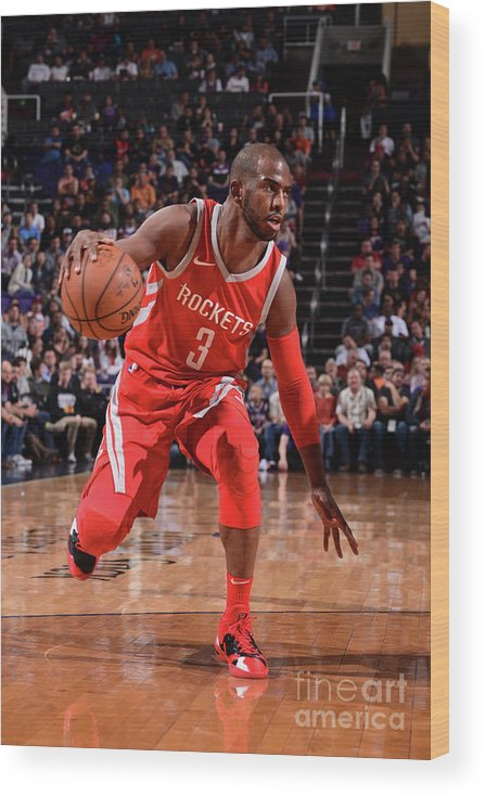 Nba Pro Basketball Wood Print featuring the photograph Chris Paul by Michael Gonzales