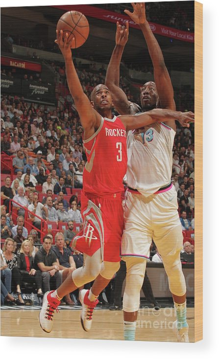 Nba Pro Basketball Wood Print featuring the photograph Chris Paul by Oscar Baldizon