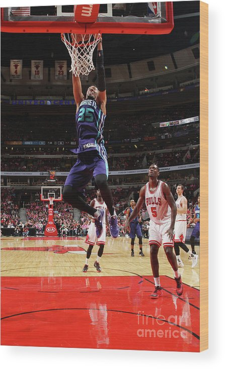 Nba Pro Basketball Wood Print featuring the photograph Christian Wood by Gary Dineen