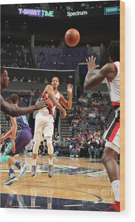 Nba Pro Basketball Wood Print featuring the photograph C.j. Mccollum by Kent Smith