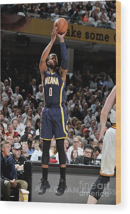 Playoffs Wood Print featuring the photograph C.j. Miles by David Liam Kyle