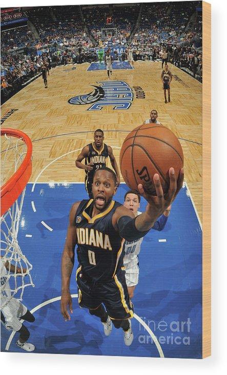 Nba Pro Basketball Wood Print featuring the photograph C.j. Miles by Fernando Medina