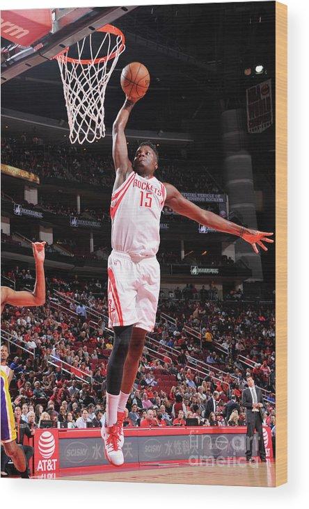 Nba Pro Basketball Wood Print featuring the photograph Clint Capela by Bill Baptist