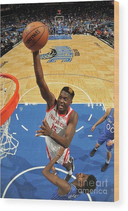 Nba Pro Basketball Wood Print featuring the photograph Clint Capela by Fernando Medina