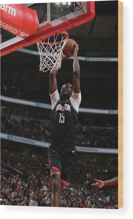 Nba Pro Basketball Wood Print featuring the photograph Clint Capela by Gary Dineen