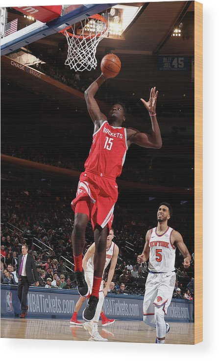 Nba Pro Basketball Wood Print featuring the photograph Clint Capela by Nathaniel S. Butler