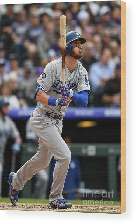 People Wood Print featuring the photograph Cody Bellinger by Dustin Bradford