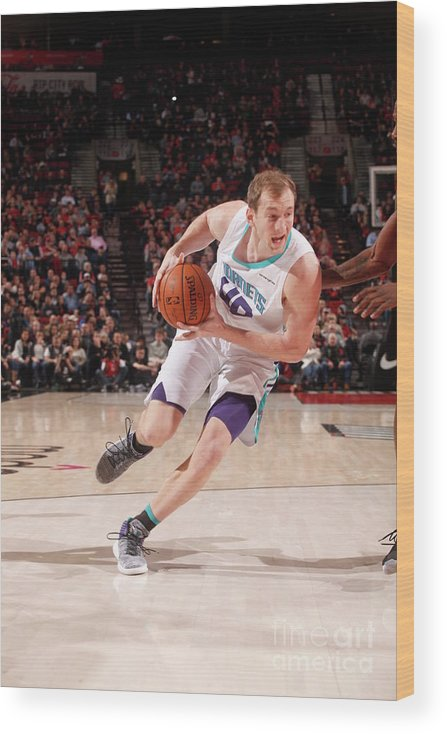 Nba Pro Basketball Wood Print featuring the photograph Cody Zeller by Cameron Browne