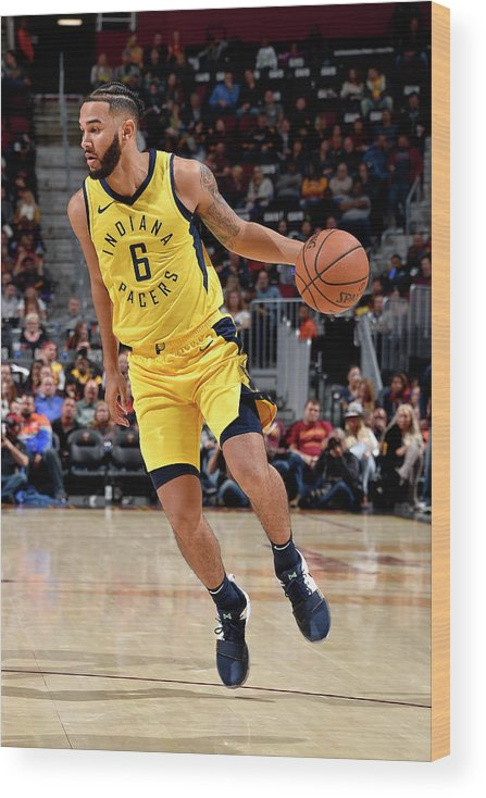 Nba Pro Basketball Wood Print featuring the photograph Cory Joseph by David Liam Kyle
