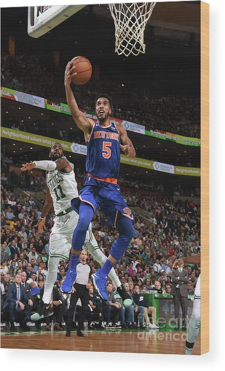 Nba Pro Basketball Wood Print featuring the photograph Courtney Lee by Brian Babineau
