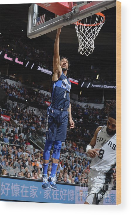 Nba Pro Basketball Wood Print featuring the photograph Courtney Lee by Mark Sobhani