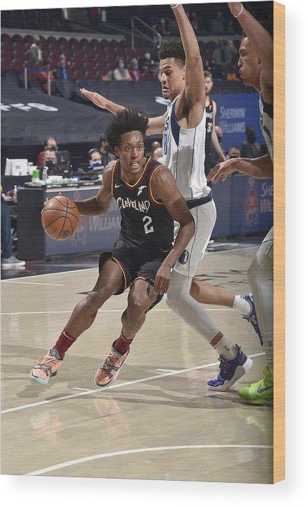 Nba Pro Basketball Wood Print featuring the photograph Dallas Mavericks v Cleveland Cavaliers by David Liam Kyle