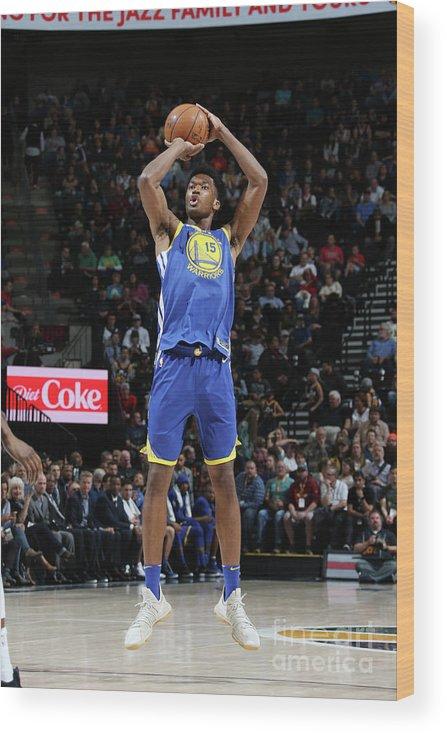 Nba Pro Basketball Wood Print featuring the photograph Damian Jones by Melissa Majchrzak