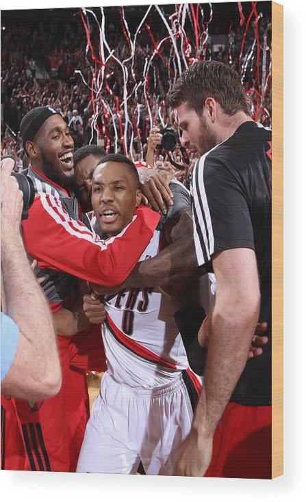 Playoffs Wood Print featuring the photograph Damian Lillard by Sam Forencich