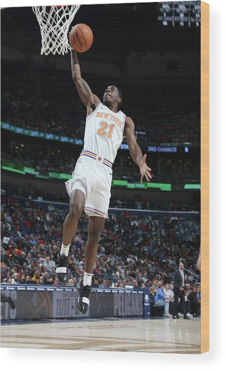 Smoothie King Center Wood Print featuring the photograph Damyean Dotson by Layne Murdoch Jr.