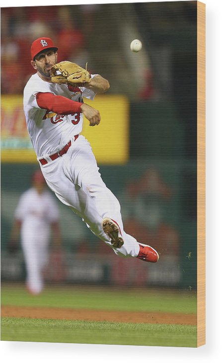 St. Louis Cardinals Wood Print featuring the photograph Daniel Descalso by Dilip Vishwanat