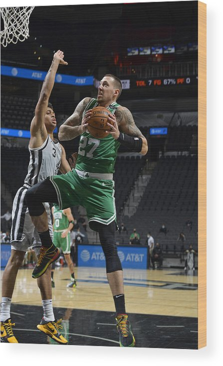 Nba Pro Basketball Wood Print featuring the photograph Daniel Theis by Logan Riely