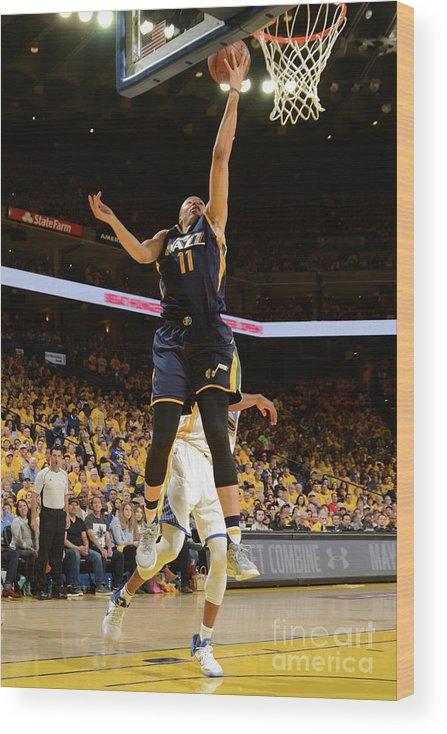 Playoffs Wood Print featuring the photograph Dante Exum by Noah Graham