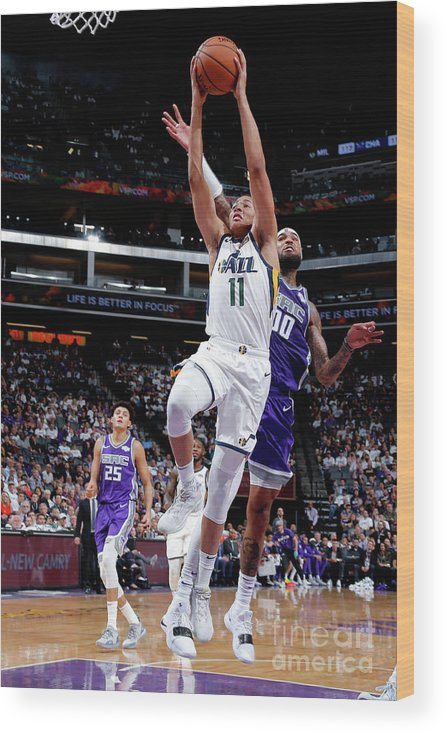 Nba Pro Basketball Wood Print featuring the photograph Dante Exum by Rocky Widner