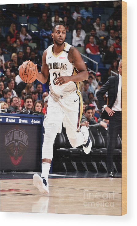 Smoothie King Center Wood Print featuring the photograph Darius Miller by Bill Baptist
